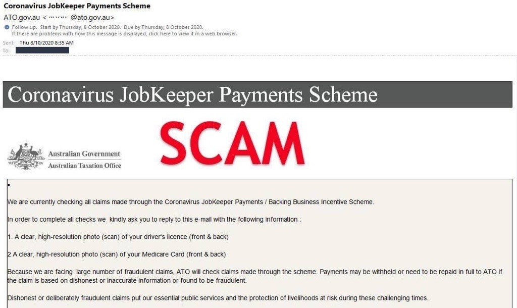 SCAM WARNING – Do not reply, delete immediately